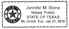 Texas Notary Image