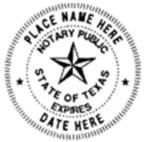 Round Texas Notary Seal, Notarial Seal of Texas